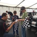 Paul Fix meets young fans at Virginia International Raceway